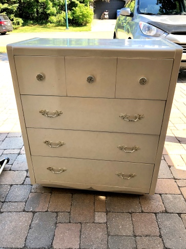 185 Commode waterfall 3T blanc