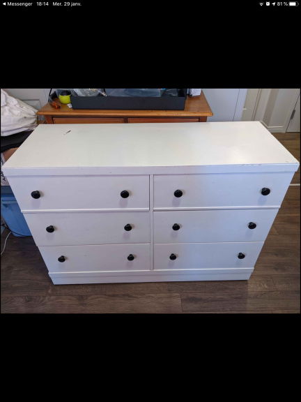 85 Commode blanche H6T